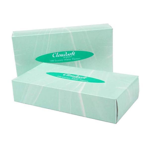 White Facial Tissues 2 Ply